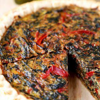 Spring Swiss Chard Pie With Gruyère