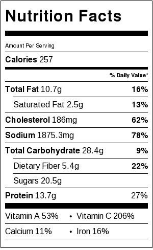 cold ramen zoodles nutrition facts
