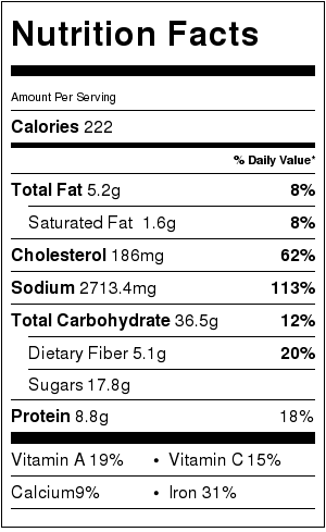 cold shirataki noodle soup nutritional label