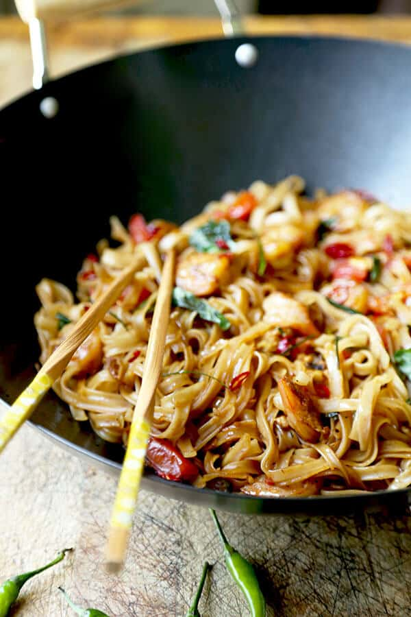 Drunken noodles pad kee mao pickled plum food and drinks drunken noodles a fiery and fragrant drunken noodles recipe that tastes like proper bangkok street forumfinder Choice Image