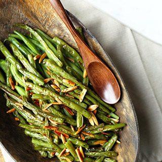Broiled Green Beans Almondine