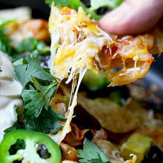 Loaded Nachos with Kimchi and Miso Crema (Video)