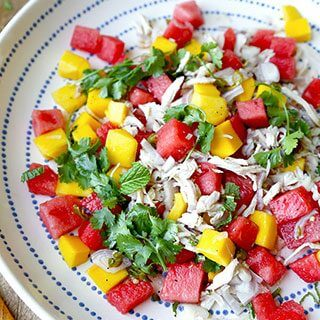 Mango and Watermelon Chicken Salad