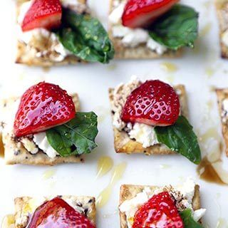 Sweet And Salty Strawberry Ricotta Bites