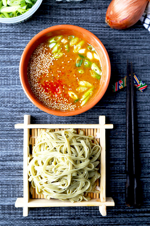 Spicy Miso Tsukemen - A cooling and summer-perfect Tsukemen Recipe served with a deeply flavored spicy miso broth. These Japanese dipping noodles are ready in 22 minutes! Recipe, Japanese, noodles, flavor, main, dinner | pickledplum.com