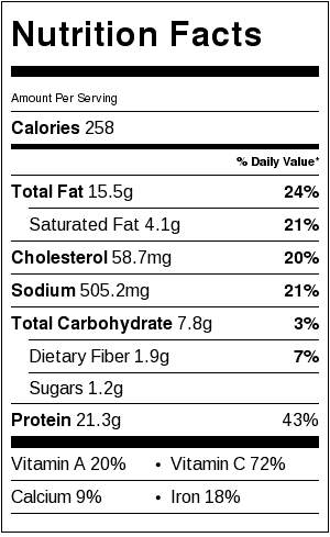 Hunan Beef With Cumin Nutrition Facts