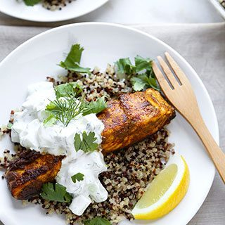 Salmon Tikka Over Quinoa