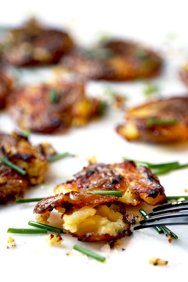Did you like this Smashed Red Potatoes With Garlic and Chives Recipe ...