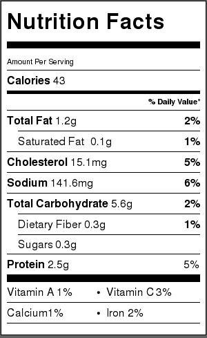 gyoza nutrition facts