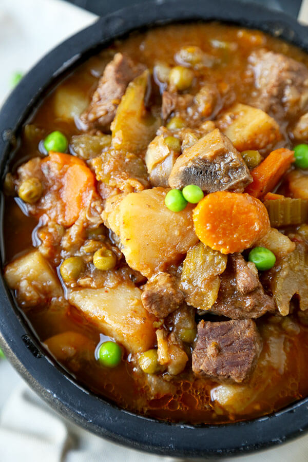 Slow Cooker Beef Stew Fort Food Deliciousness Savory And Warming