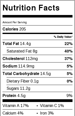 Japanese cheesecake nutrition facts