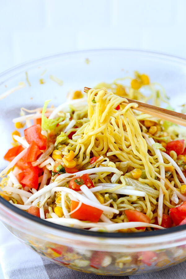 how to make ramen noodle salad