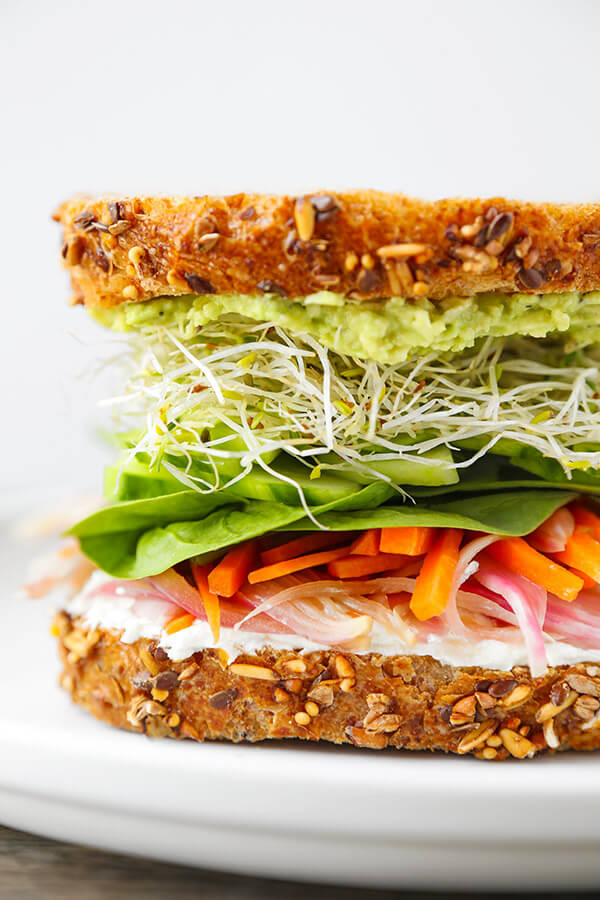 California Veggie Sandwich - There is nothing boring about this veggie ...