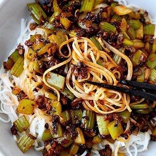 Spicy Vegan Sichuan Noodles