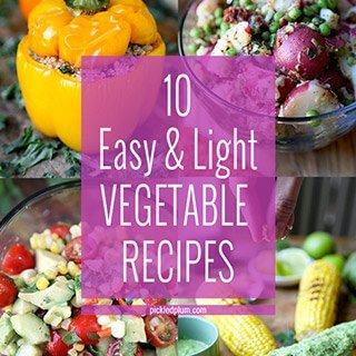 10 Easy & Light Vegetable Recipes