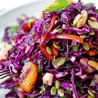 Detox Red Cabbage Slaw