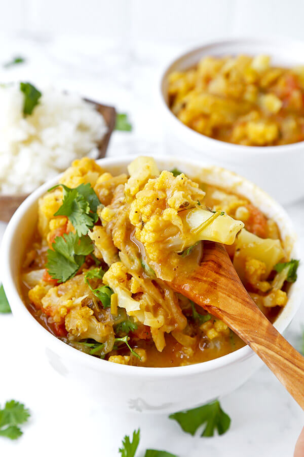 Thai Yellow Curry With Cauliflower