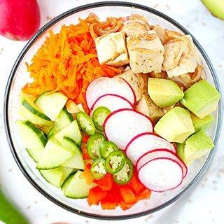 Tofu and Vegetable Poke Bowl