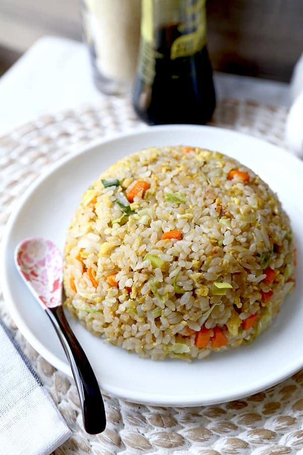 Japanese fried rice pickled plum food and drinks japanese fried rice no teppanyaki grill top needed to whip up this simple and savory ccuart