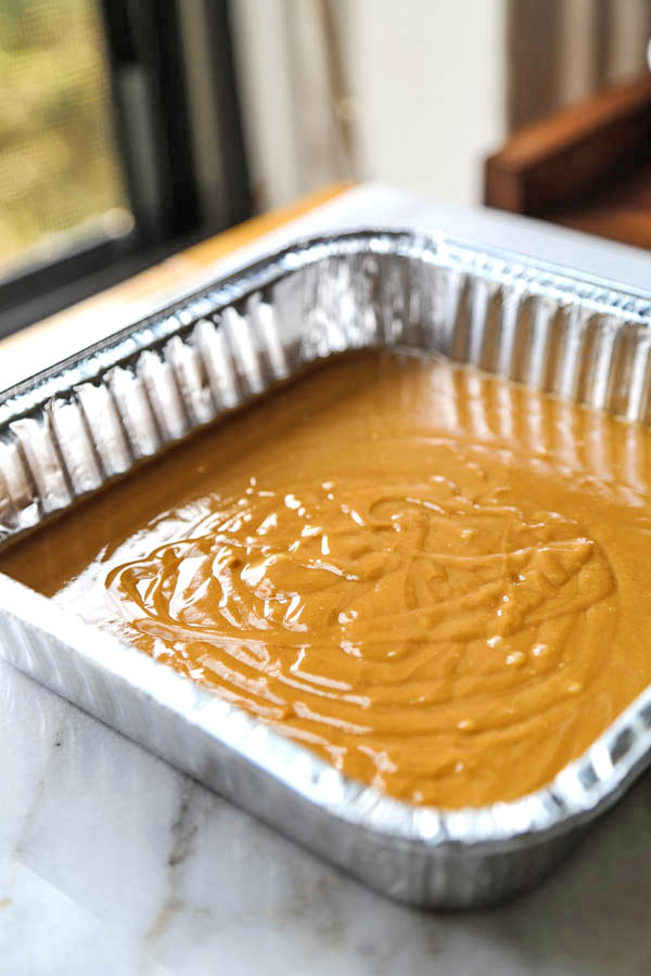 Peanut Butter & Honey Fudge - This healthier fudge recipe contains half the amount sugar and is made with raw organic honey and natural peanut butter. You won't believe how good it is! easy fudge recipe, vegetarian fudge recipe, healthy dessert recipes, desserts for parties, healthy clean eating desserts | pickledplum.com