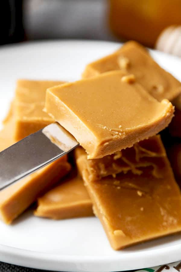 Easy Peanut Butter And Honey Fudge Pickled Plum Food And