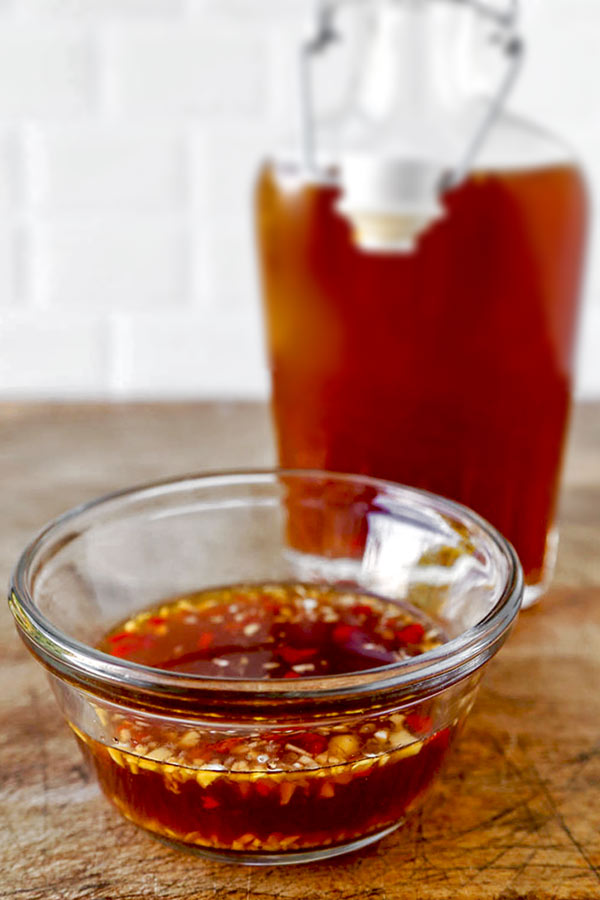 Nuoc Cham - This Nuoc Cham Recipe has perfect levels of sour, sweet, salty, savory and spicy! homemade dipping sauce recipe, Vietnamese recipes, nuoc cham sauce recipe, fish sauce dipping, spicy Asian sauce, bun cha sauce, spring roll sauce | pickledplum.com