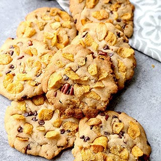 Honey Sweetened Cornflake Cookies