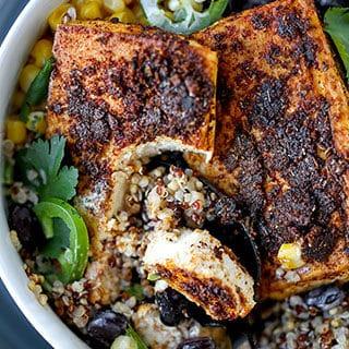 Southwestern Style Baked Tofu Steaks