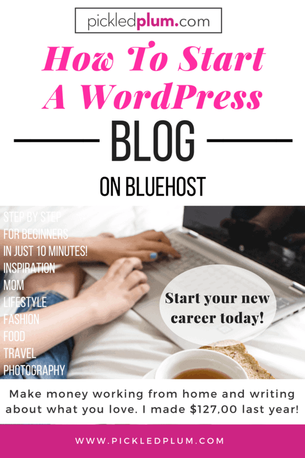 How to start a wordpress blog on bluehost pickled plum for How much can i save building my own house