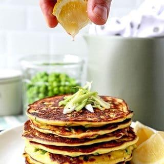 Spring Pea Pancakes