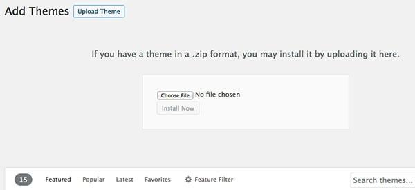 How to add a wordpress theme