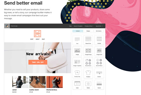 Mailchimp for beautiful newsletters